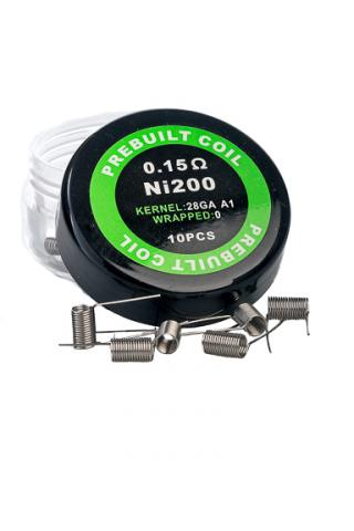 Temperature Control Nichrome 26GA Pre-Built Coils (10pcs per Pot)